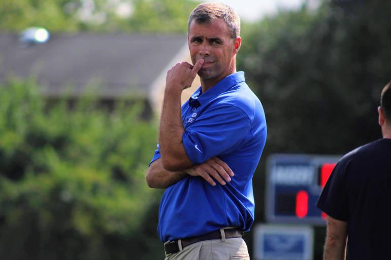 Kevin Ewing, Scotch Plains-Fanwood High School's girls soccer coach