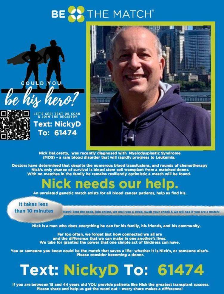 Clark Resident Nick DeLoretto Searching for a Hero:  Are You the Match?