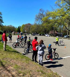 Pop-Up Bike Lane & Free Bike Skills Course Held at Redwood Elementary School