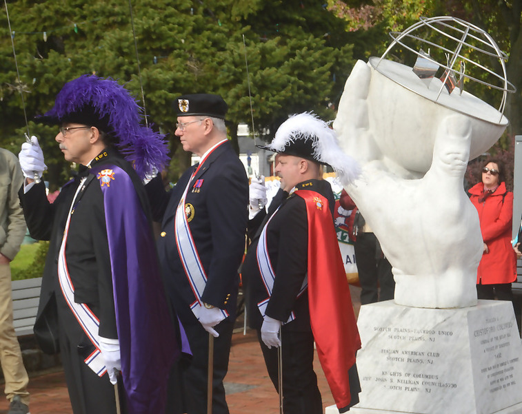 Knights of Columbus at Columbus Day celebration in Scotch Plains