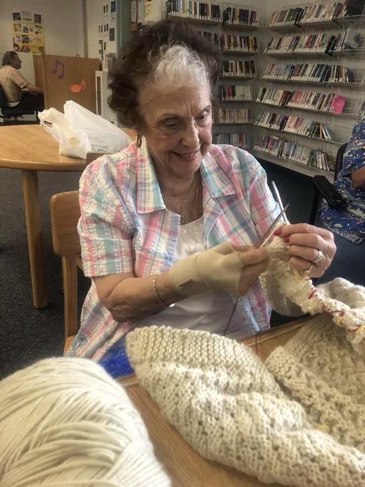 Clara Barton Library Offers Popular Knitting Program
