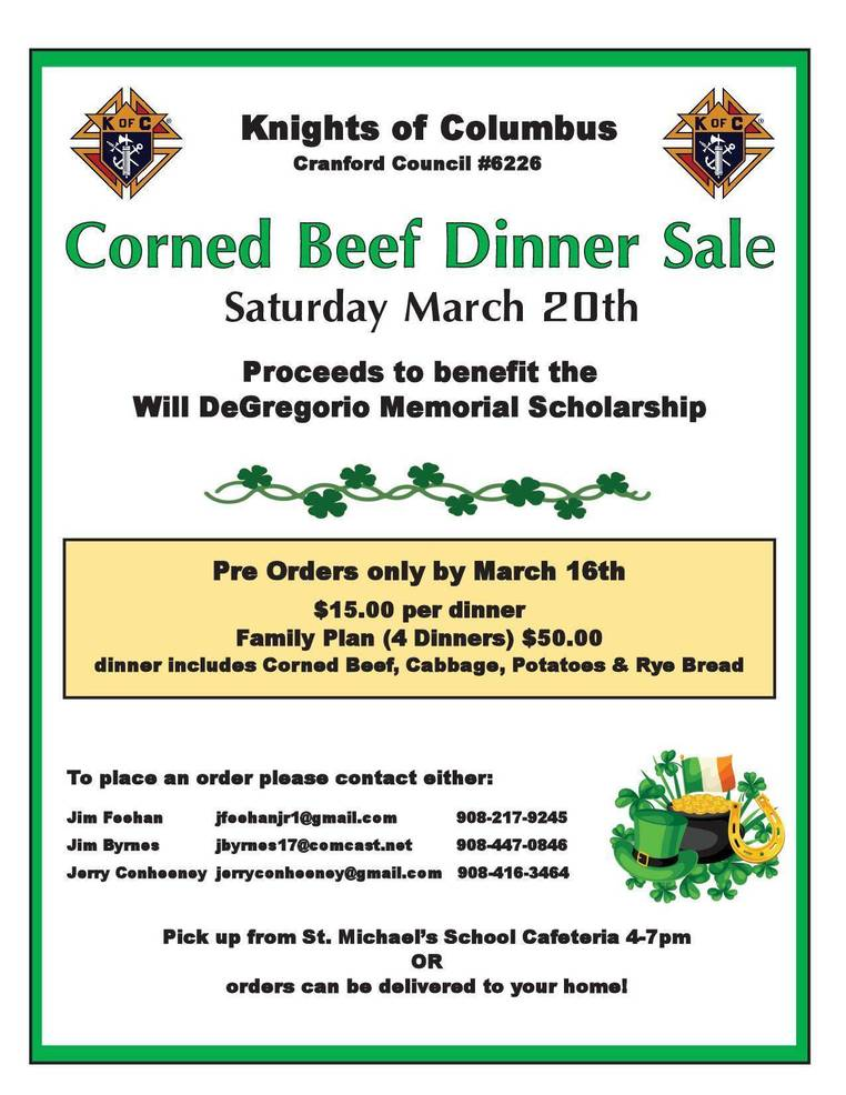 Best crop 18bc346ecc5f834446cd k of c 2021 st. patrick s dinner fundraiser flyer