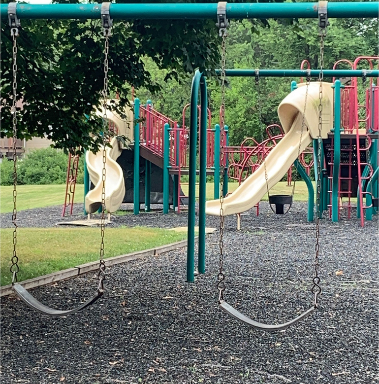 The playground at Kramer Manor Park in Scotch Plains