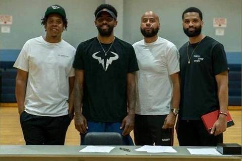 Kyrie Irving Signs New Nets Contract at West Orange's Roosevelt Middle  School   TAPinto