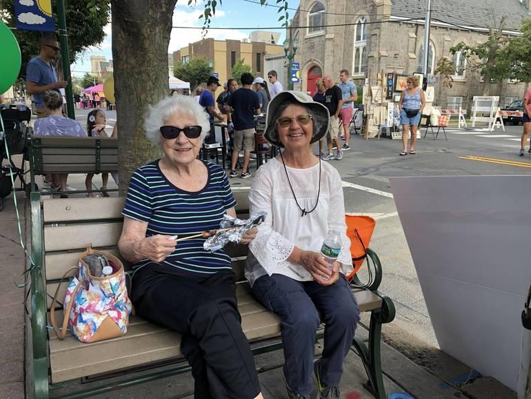Ladies on bench.JPG