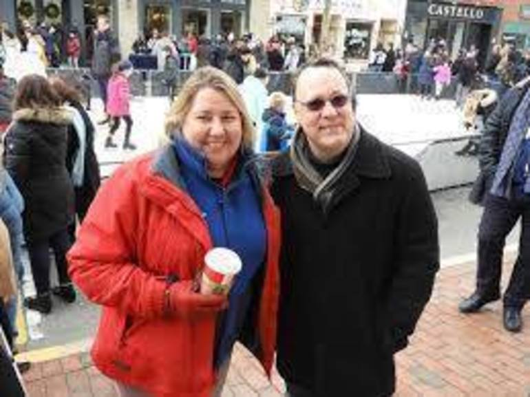 Laura Kirkpatrick, Red Bank RiverCenter Executive Director with former Director, Jim Scavone.jpg