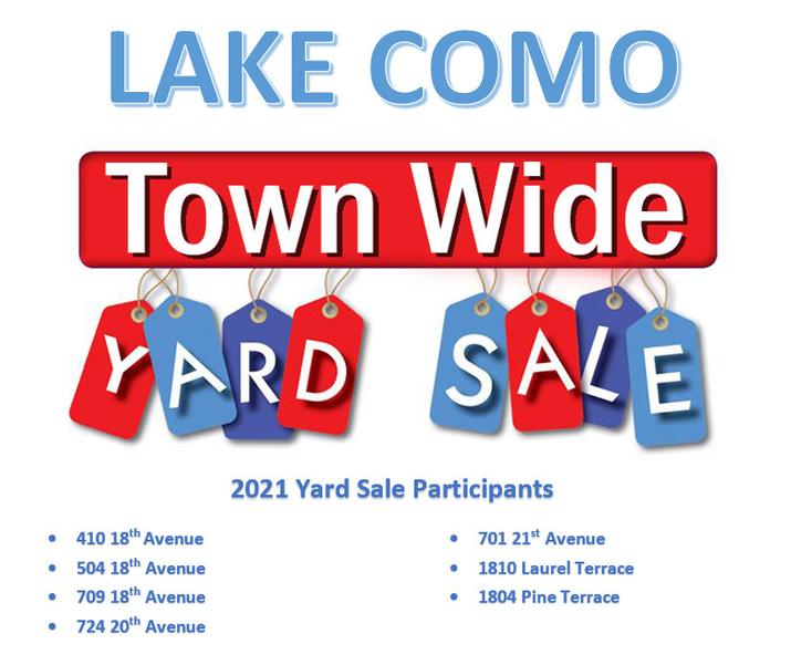 Belmar and Lake Como Yard Sales On Tap This Weekend