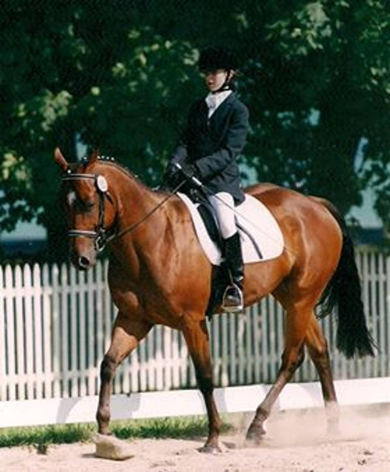 Laura Graves riding in LYDF 1999.JPG