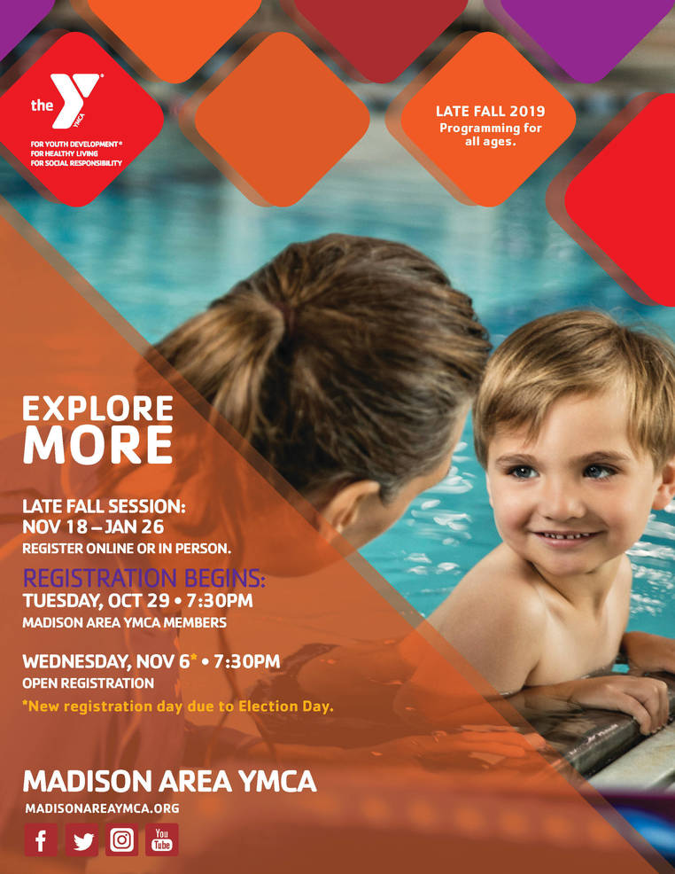 Explore More: Register for Madison Area YMCA Late Fall 2019 Classes