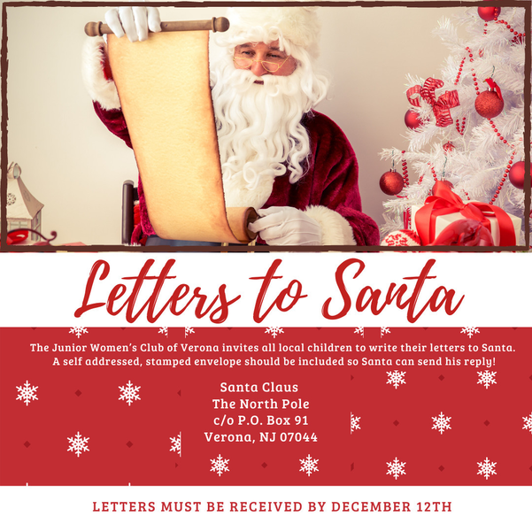 Verona Kids Can Write Letters to Santa, Junior Woman's Club Will 'Deliver' Them