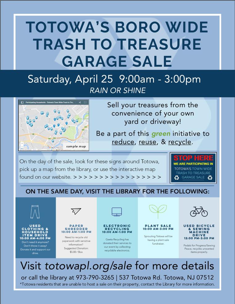 Town-wide Trash To Treasure Sale!