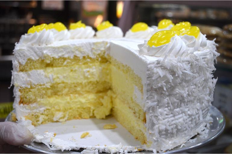 Lemon coconut cake at Scotchwood Diner in Scotch Plains.