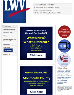 Voting Information from League of Women Voters