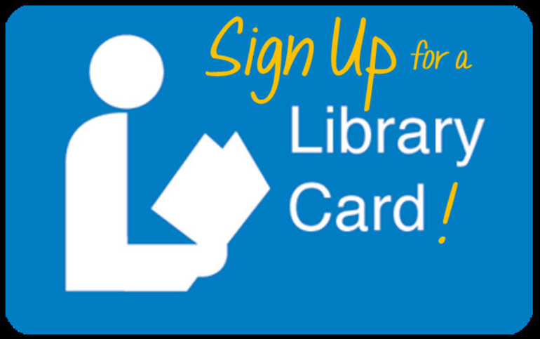 Sign up for a library card!