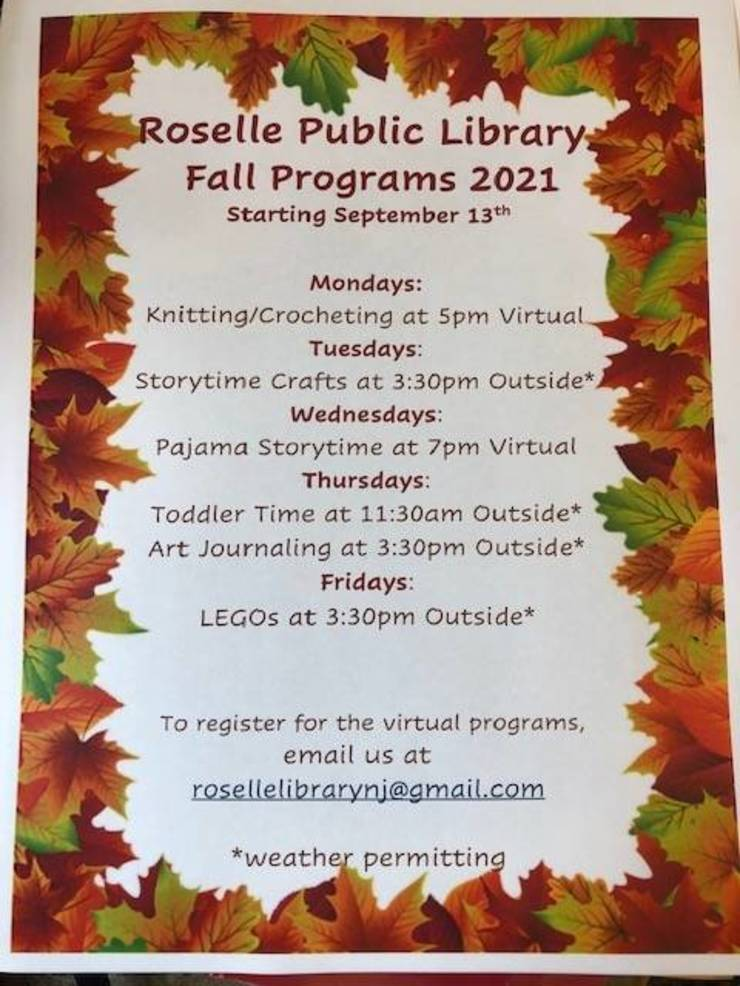 Roselle Public Library Launches Fall 2021 Programs