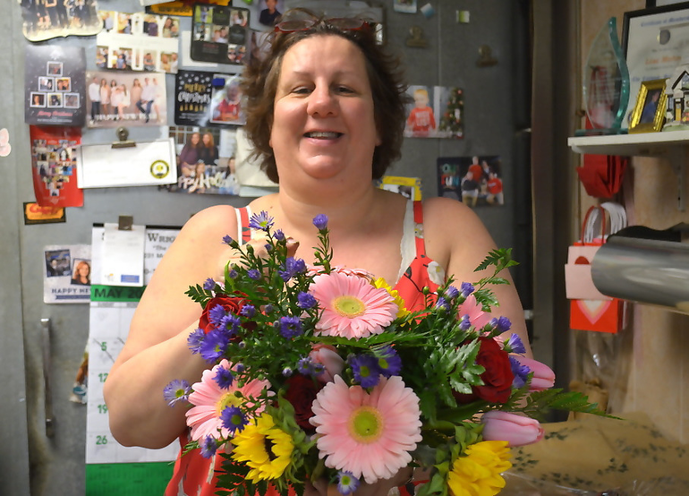 Lisa Mohn of Apple Blossom Flower Shop in Scotch Plains