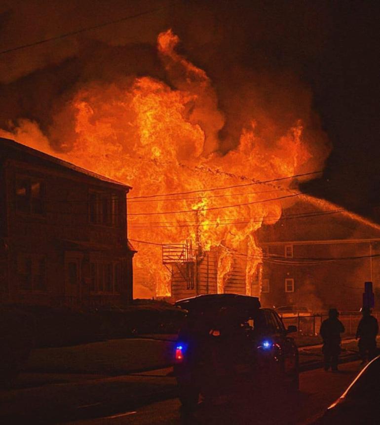 The Scotch Plains Fire Department helped battle multiple blazes in Linden on Thursday evening.