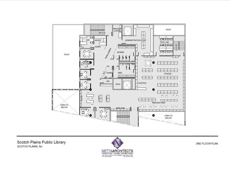 Scotch Plains Library rendering - 2nd-Floor