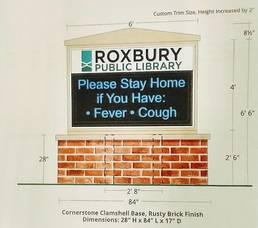 Roxbury library sign