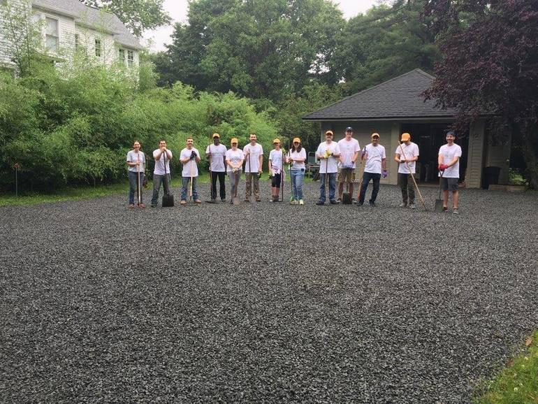 L'Oreal driveway rocks volunteers.jpg