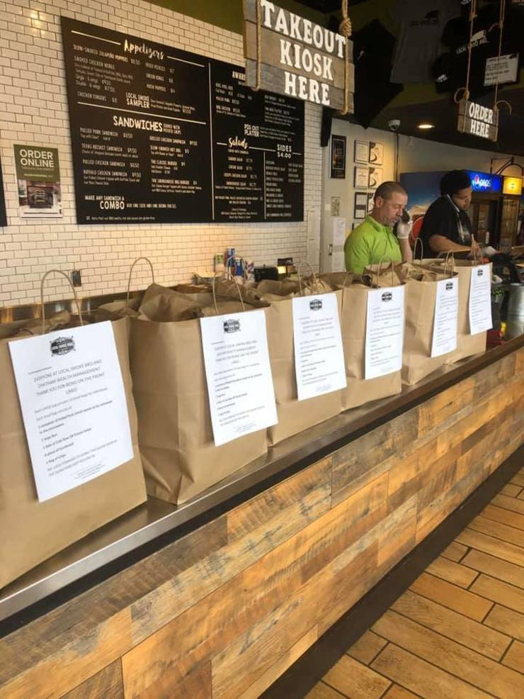Local Smoke BBQ and Chatham Wealth Management feed Chatham front-line workers