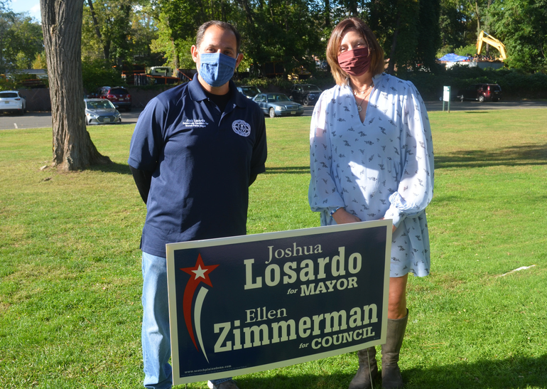 Josh Losardo and Ellen Zimmerman are the Scotch Plains Democrats' candidates for mayor and council