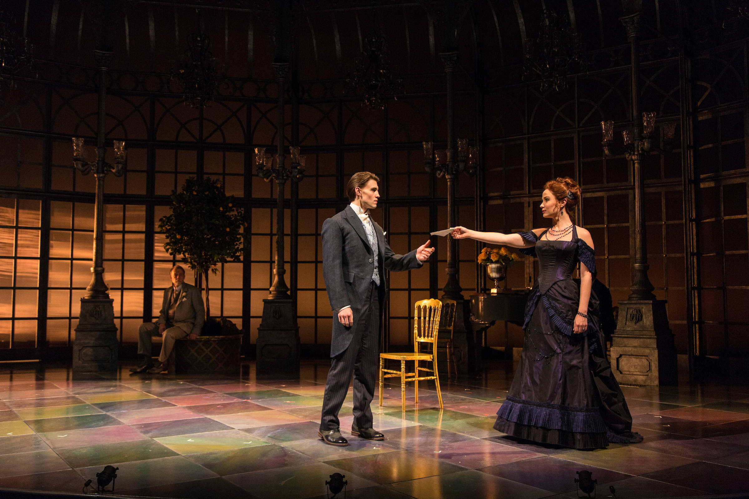 (l-r) Boyd Gaines, Andrew Veenstra, and Sierra Boggess in The Age of Inn....jpg