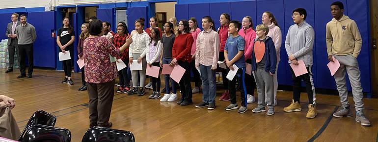 LRS Honors Choir Students sing at Luncheon.JPG