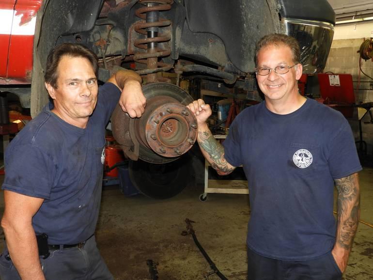 (l to): Borough Mechanics Gregg Krushinski and Nick Piscitelli.jpg