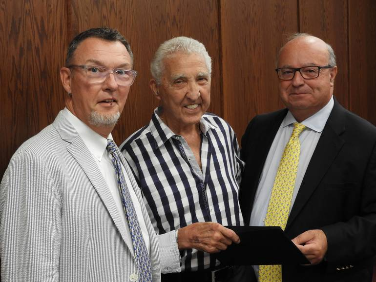 (l to r) Councilman Ed Zipprich, Danny Murphy, Mayor Pat Menna.jpg