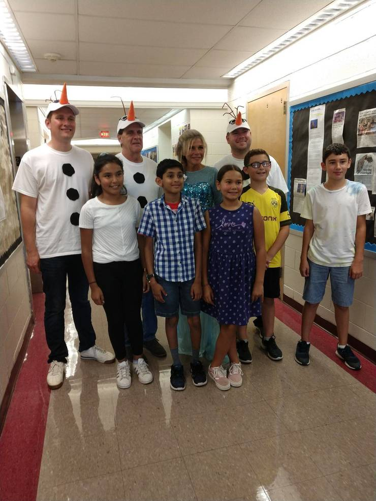 Ms. Capitelli with the winners