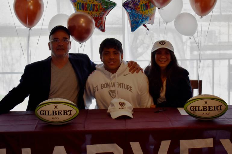 Harvey's Lucas Chirico Signs to Play Collegiate Rugby