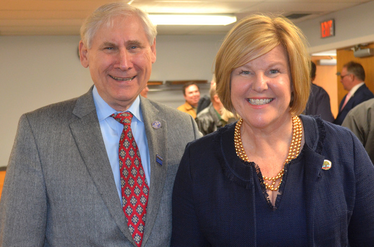 Scotch Plains Mayor Al Smith and Fanwood Mayor Colleen Mahr