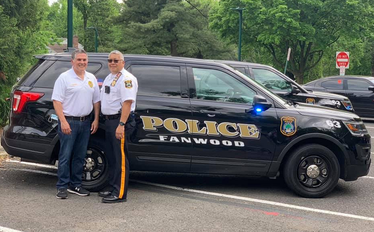 Fanwood Lt. Frank Marrero and Lt. Eugene Chin.