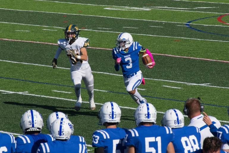 Scotch Plains-Fanwood's Shawn Martin scored three touchdowns for the Raiders on Saturday.