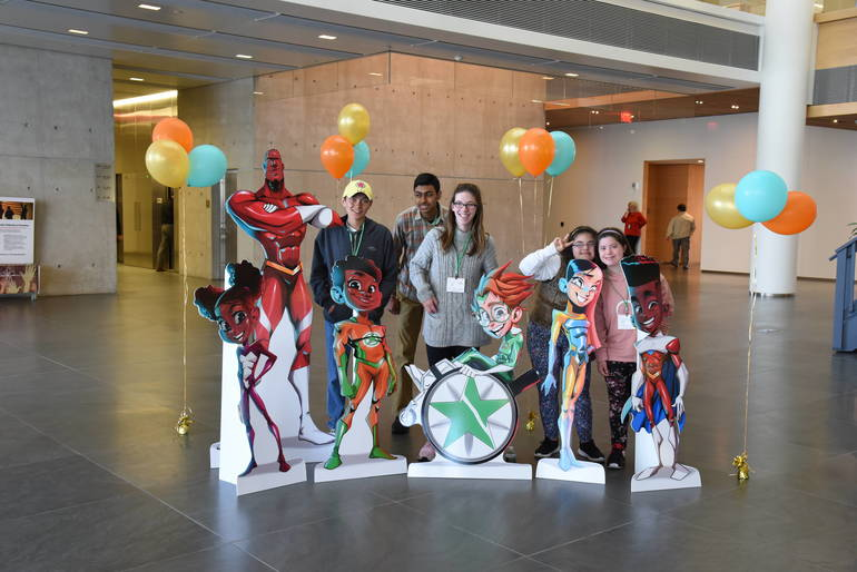 Madison HS students at Novartis DMD.JPG