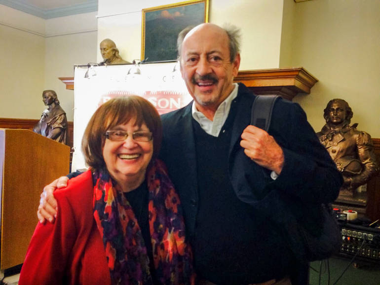 Maria Mazziotti Gillan and Poet Laureate Billy Collins.Reading PoetryCenteratPCCC.jpg