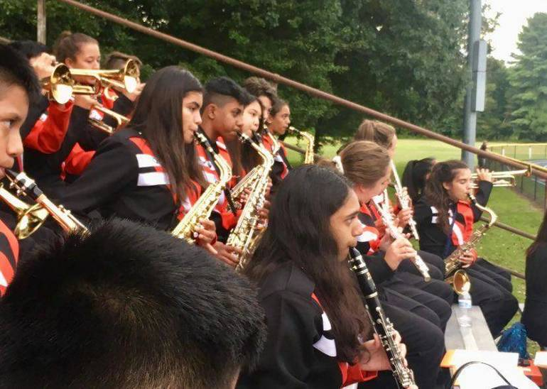 marching band in stands sax woodwinds by Linda Byrne.jpg