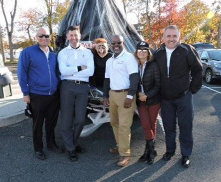 Mayor Matthew Anesh, Council President Rob Bengivenga, Councilman Derryck White, Councilwoman Christine Faustini, Councilman Joseph Wolak and Riley Cassio