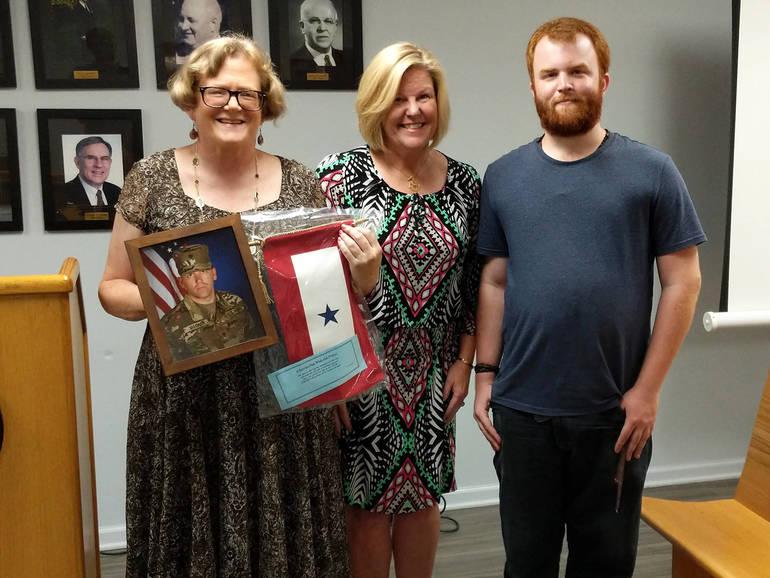 Fanwood Mayor Colleen Mahr with Kathleen and Willam Magnan.