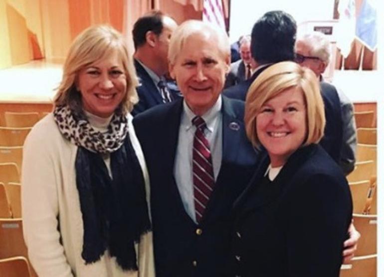Westfield Mayor Shelley Brindle, Scotch Plains Mayor Al Smith, and Fanwood Mayor Colleen Mahr