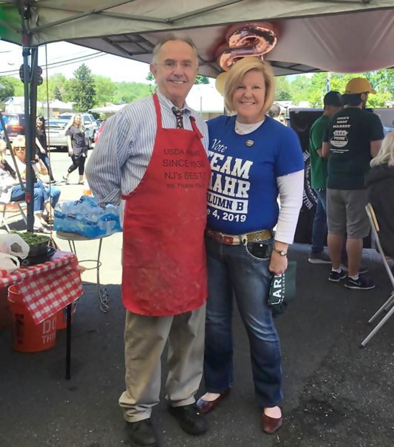 Vinnie Losavio with Fanwood Mayor Colleen Mahr