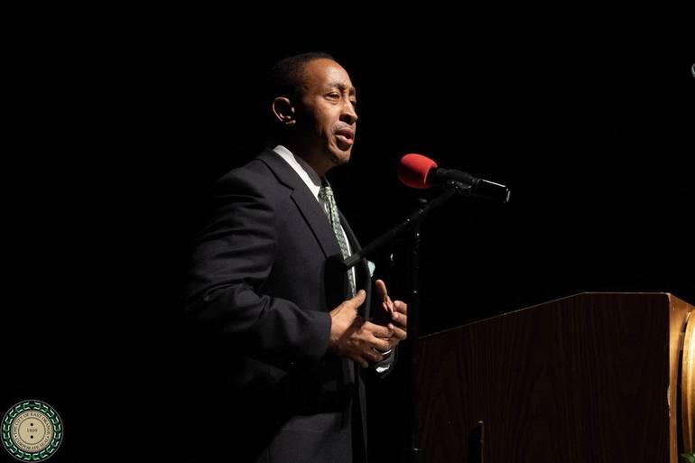 Mayor Green Delivering Speech