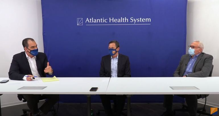 Brian Gragnolati, President and CEO, and Steven Sheris, MD, SVP, Physician Enterprise, Atlantic Health System,