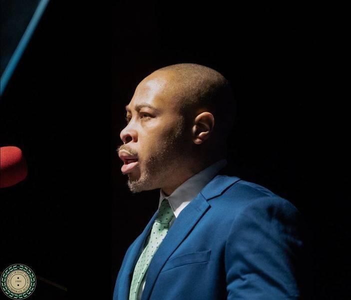 Mayor Green's Son Eric Green Introducing Him