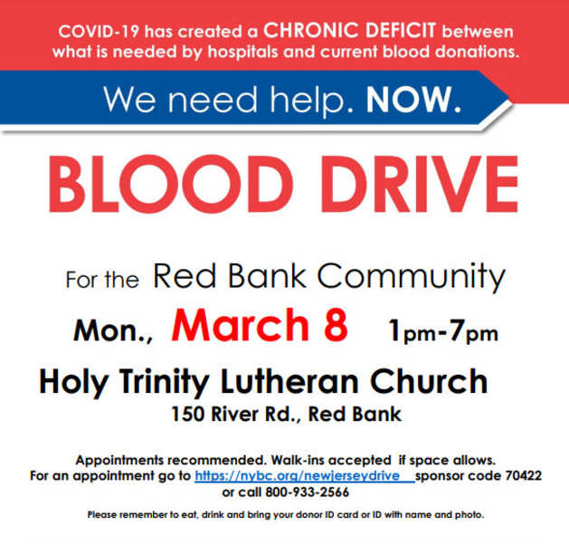 Red Bank Community Blood Drive