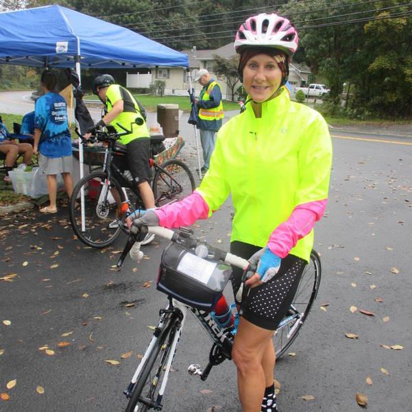 Maria Romano on the 20-mile bike route for Lake Loop 2018 - Bill Woolley.JPG