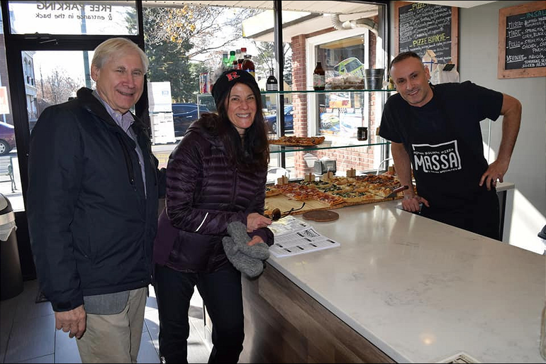 Mayor Al Smith and Margaret Heisey at Massa Pizza.png