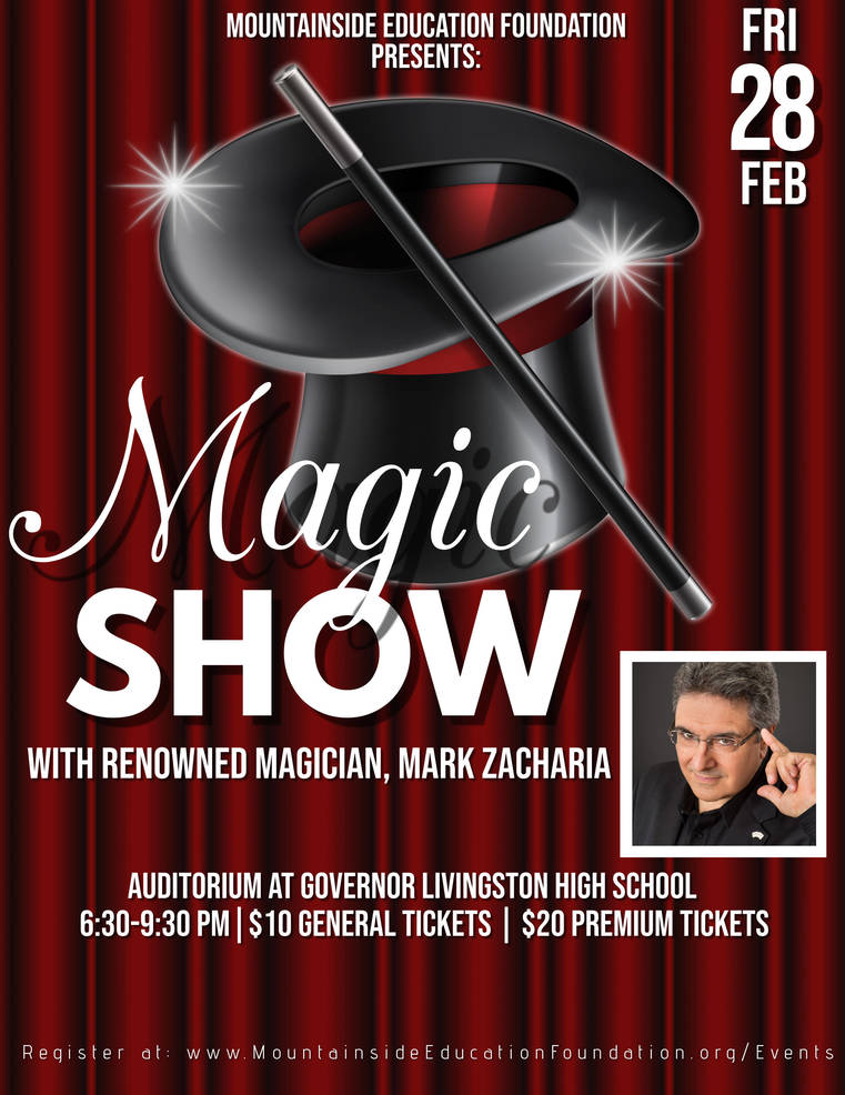 Magic Show flyer - Berkeley Heights.JPG