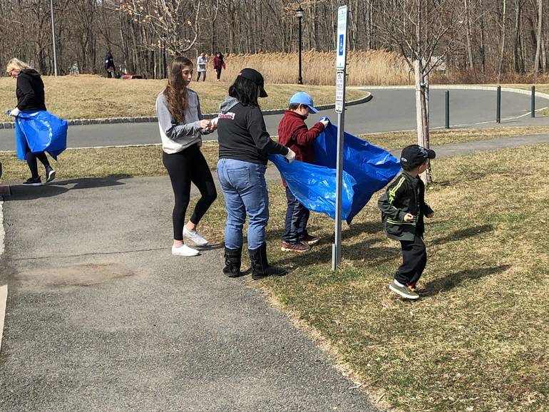 March 24 Clean Up - Getting Ready to Clean Snyder Park.jpeg